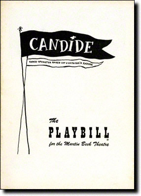 Candide Original Playbill