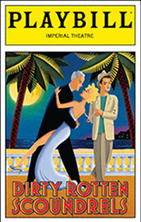 Dirty Rotten Scoundrels Playbill