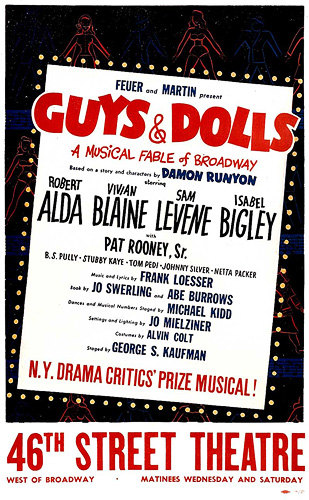 Guys and Dolls Original Poster