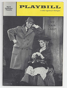My Fair Lady Original Playbill