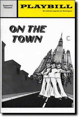 On the Town 1971 Playbill