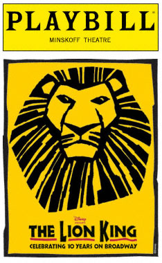 The Lion King Broadway Playbill